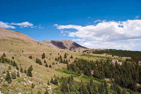 San Isabel View of Greenhorn Mountain